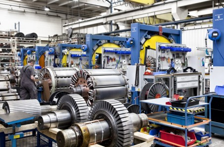 Rotor winding assembly line